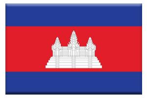カンボジア国旗ボタン